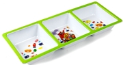 Jelly Belly Green 3-Section Melamine Tray