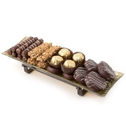 Gold Oblong Elegance Tray