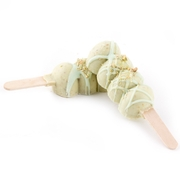 Hand Crafted Miniature Pistachio Truffle Pop - 6CT