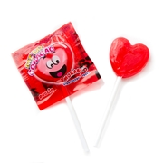 Zaza Strawberry Red Heart Lollipops