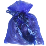 Dark Blue Mesh Party Bags - 12 pk