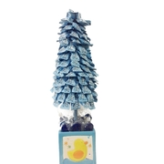 Blue Topiary Candy Tree