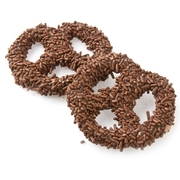 Chocolate Covered Pretzels with Chocolate Sprinkles - 10CT Box