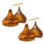 Hershey's Kisses Caramel Filled Milk Chocolate Candy 110-Pc. Bag