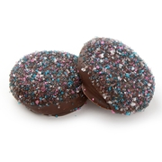 Dark Crystal Sugar Colorful Chocolate Coated Sandwich Cookies
