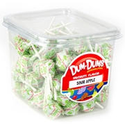 Sour Apple Dum Dum Pops - 1 LB Tub