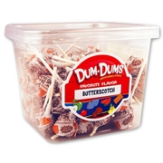 Butterscotch Dum Dum Pops - 1 LB Tub