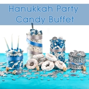 Hanukkah Party Candy Buffet