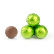 Kiwi Green Foiled Milk Chocolate Balls