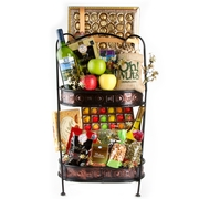 Giant Holiday Double Stacked Gift Basket
