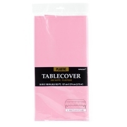 Light Pink Plastic Table Cover