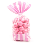 Light Pink Striped Favor Bag - 10CT