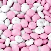 Light Pink & White M&M's Chocolate Candy