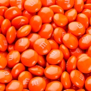 Orange M&M's Chocolate Candies