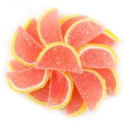 Pink Grapefruit Jelly Fruit Slices - 5LB Box