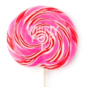 10 oz Pink & Red Swirl Whirly Pops - 17 Inches