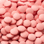 Pink Pucker Pieces Candy Tablets - Strawberry