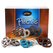 72 Pieces Gourmet Dark Chocolate Covered Crunchy Pretzels Gift Box