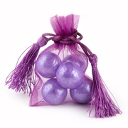 Purple Mesh Favor Bags With Tassels - 12CT