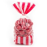 Red Striped Favor Bag - 10CT