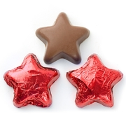 Foiled Chocolate Stars - Red