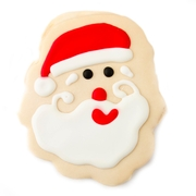 large Christmas Decorated Cookie - Santa