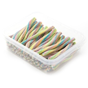 Rainbow Sour Gummy Sticks - 1LB Box
