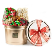 Holiday Popcorn, Mixed Nuts & Snack Gift Tin  - 3 LB