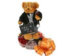 #1 Teacher Teddy Bear W/Six Section Tray (Male)