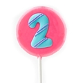 '2' Number Hard Candy Lollipop