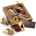 Hand Dipped Hamantash & Chocolate Card Shalach Manos