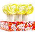 Yellow & White Swirl Whirly Pops - Lemon