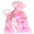 Baby Pink Mesh Favor Bags - 12CT Bag