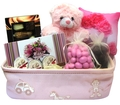 Pink Perfection Baby Girl Basket - Israel Only