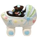 Baby Boy Ceramic Carriage