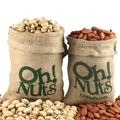 Burlap Sack Duo Set - Roasted Pitachios & Almonds