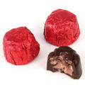Passover Foiled Cherry Chocolate Truffles - 18 Pc.