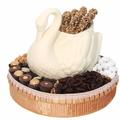 White Chocolate Swan Gift Basket