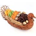 Thanksgiving Turkey Wicker Basket