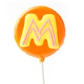 'M' Letter Hard Candy Lollipop