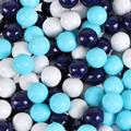 Navy Blue, Powder Blue & White Sixlets