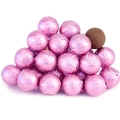 Light Pink Foiled Milk Chocolate Balls