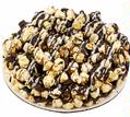 Chocolate Drizzled Caramel Popcorn Pie
