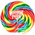 10 oz Rainbow Swirl Whirly Pops - 17 Inches