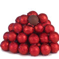 Red Foiled Milk Chocolate Balls