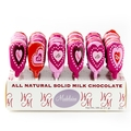 Valentine Heart Milk Chocolate Lollipops - 60CT Display Box