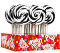Black & White Swirl Whirly Pops - Mixed Berry