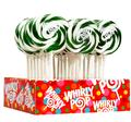 Green & White Swirl Whirly Pops - Lime