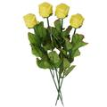 Yellow Milk Chocolate Long Stem Roses - 6-Pack