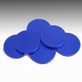 Blue Blank Milk Chocolate Coins